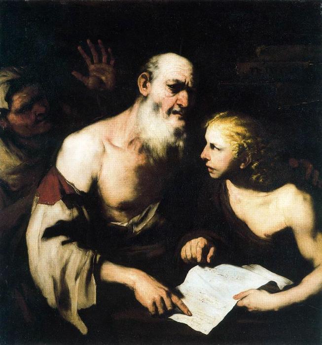 Luca-Giordano-Socrates-and-Alcibiades-Santippe